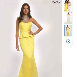Jovani yellow gown size 8